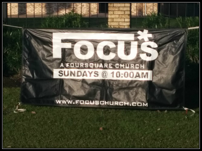 Focus Church Sign.